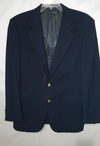 Stafford Navy Fine Wool Blazer Sz XL